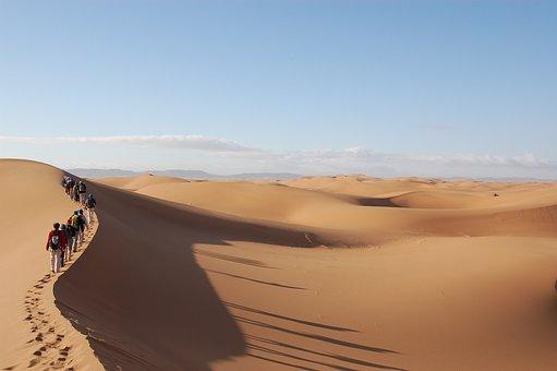 Sahara South Morocco Desert Sand Dune Peop