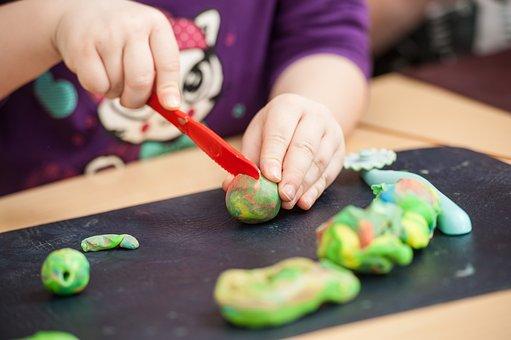 Children, Play Dough, Play, Kindergarten