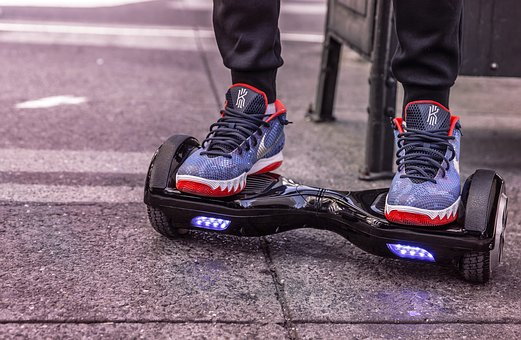Hoverboard, E-Board, Wheels, Exit, Nike