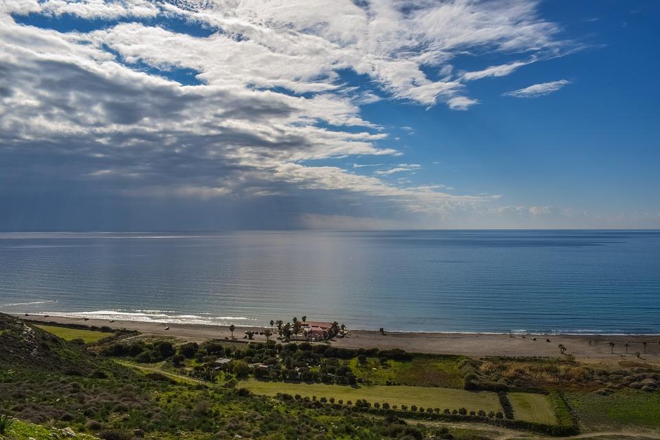 Cyprus, Kourion Beach, Landscape, Sea, Beach, Sky