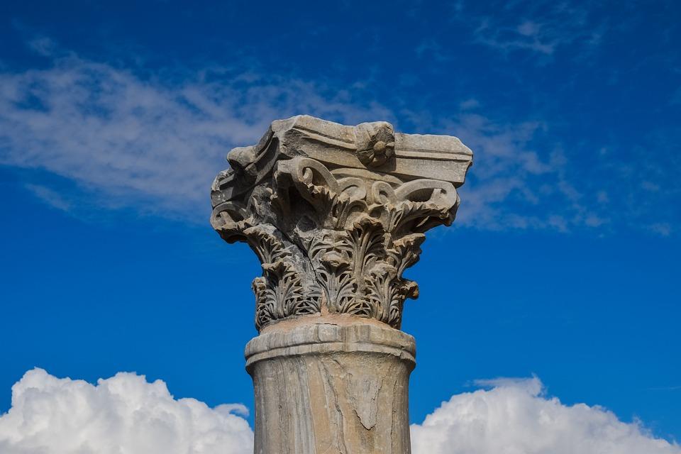 Cyprus, Kourion, Ancient, Site, Column