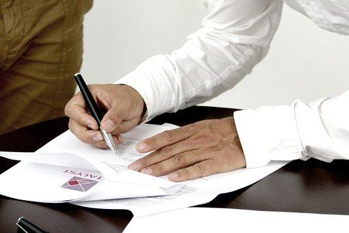 Firma Contrato Persona Que Firma Un Docume