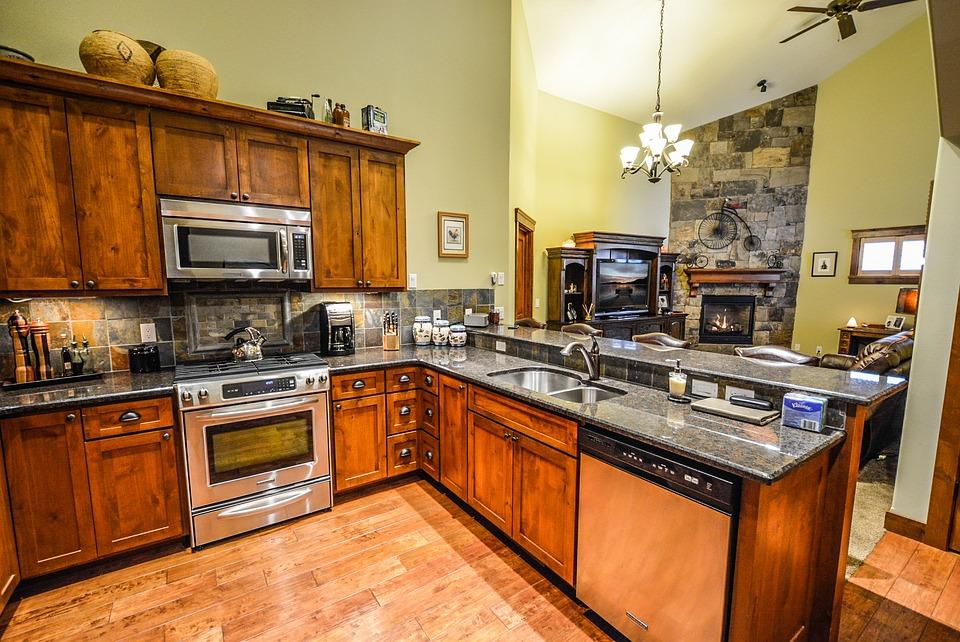 Free photo kitchen interior kitchen free image on for Kitchen ideas real estate