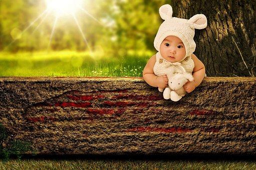 Dieťa, Zajačik, Stofftier, Roztomilý