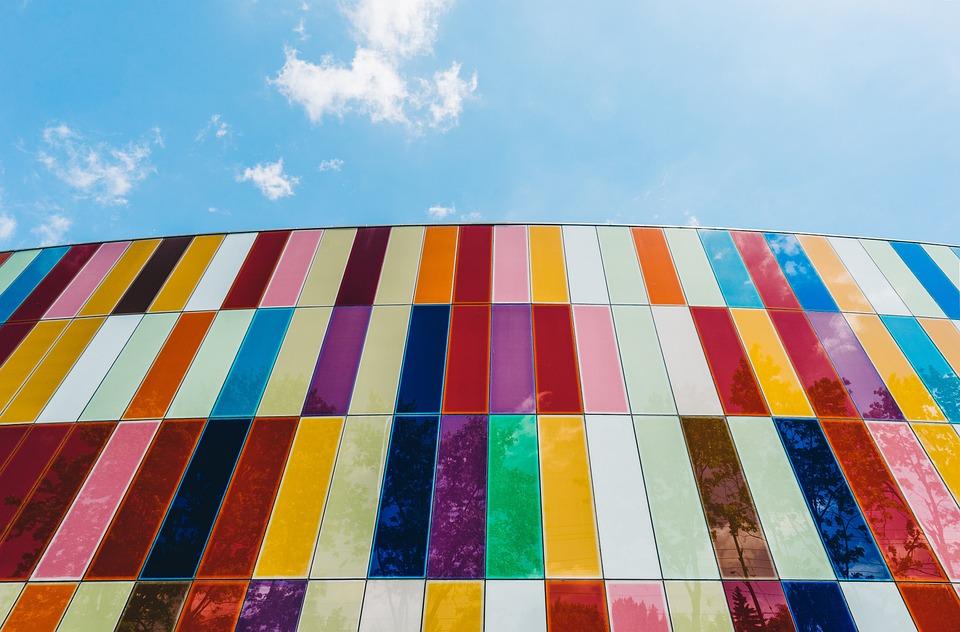 Colors, Colorful, Tile, Architecture, Blue Sky