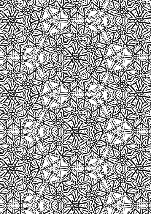 Free Illustration Pattern Pretty Coloring Page Free