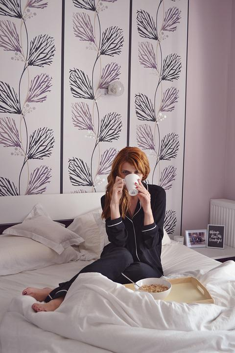 Girl In Bed  Breakfast In Bed. Bed   Free images on Pixabay