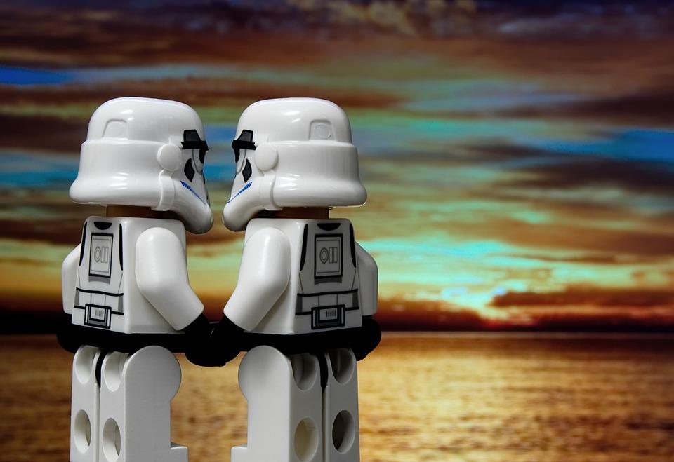 Romance, Relación, El Amor, Lego, Soldado De Asalto
