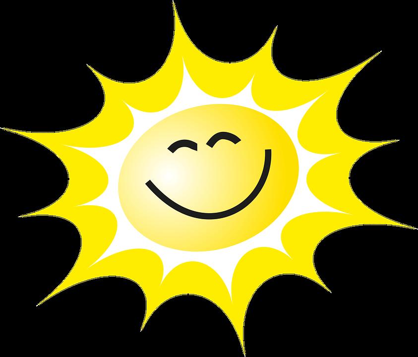 Słońce, Uśmiech, Promienie, Żółty, Słoneczko, Lato