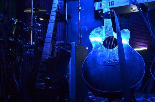 Guitarra, Piedra, Música, Concierto