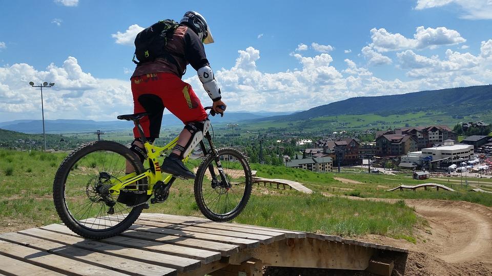 Mountain Biking Downhill Free Photo On Pixabay