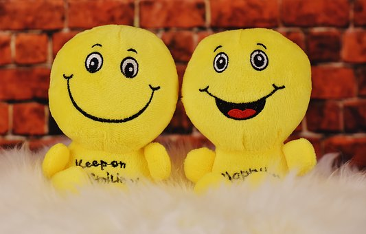 Happy, Smilies, Plush Toys, Cute, Funny