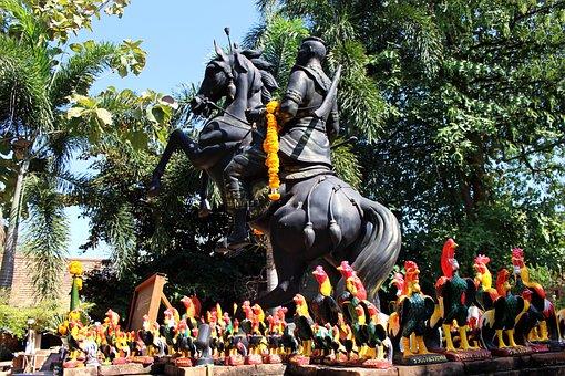 Statue, Park, Landmark, Historical