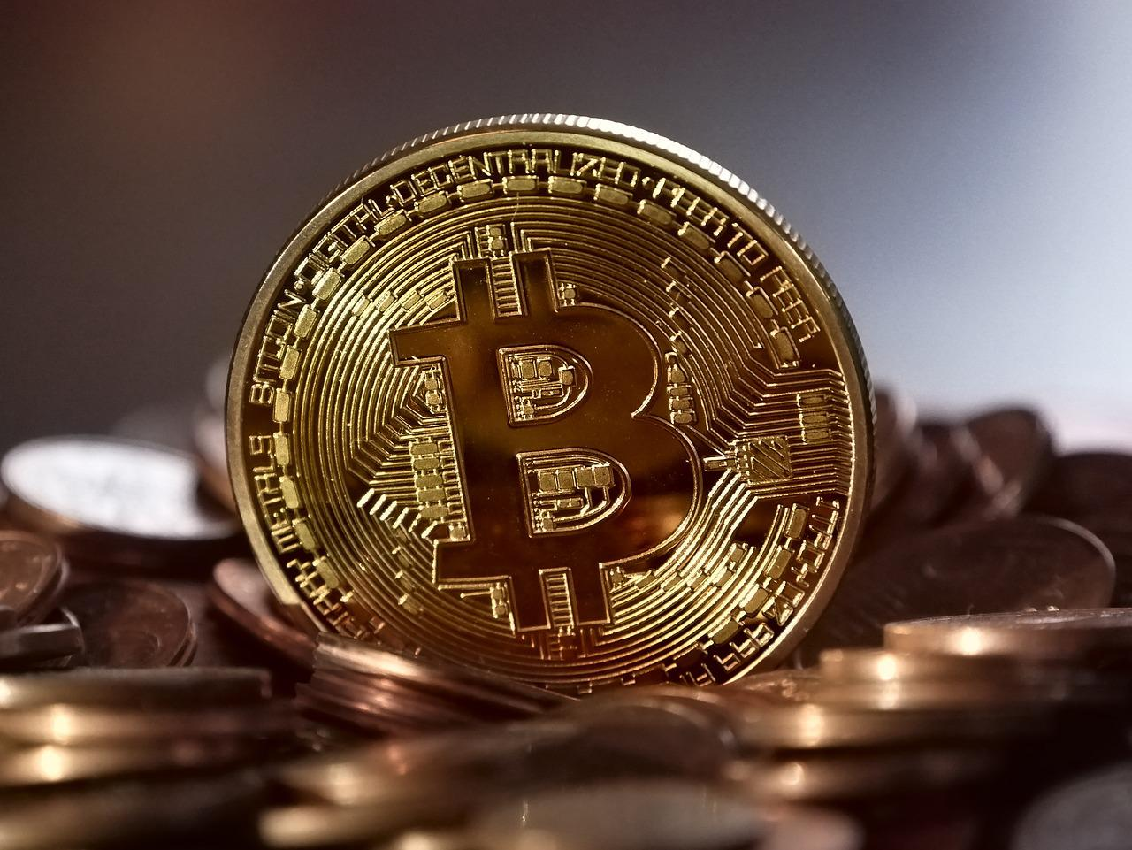 Bitcoin munt cryptocurrency via blockchain technologie
