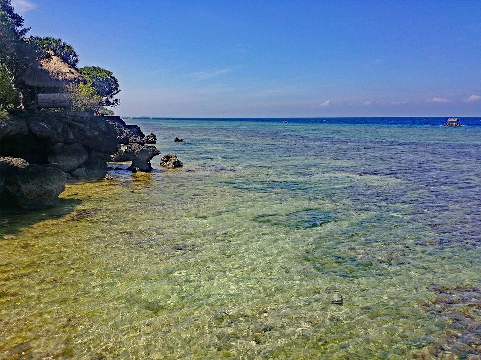 Moalboal, Cebu, Philippines, Plage, Côte, Cristal Clair