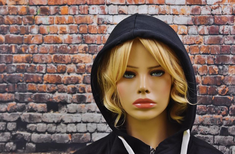 Blaue augen blond weiblich Kostenlose foto