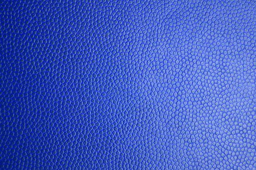 Blue Leather, Leather Texture, Skin