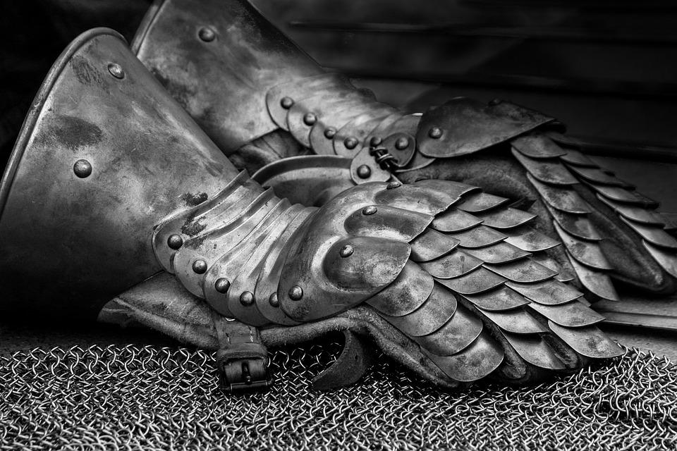中世, ナイト, 歴史的に, 鎧, 鎧の騎士, 古い騎士の鎧