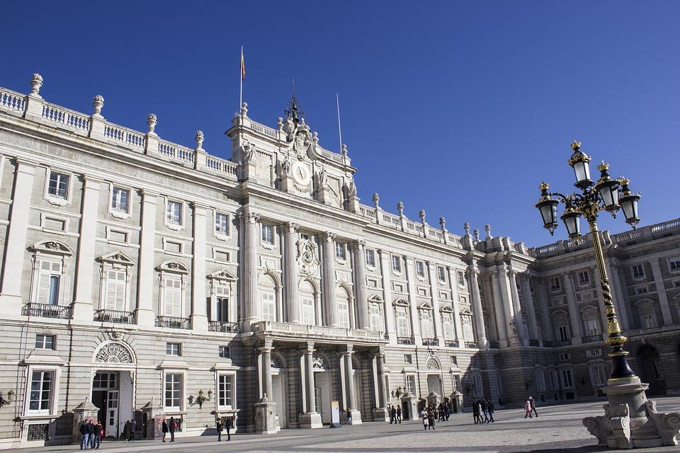皇家宫殿, 马德里, 西班牙, 贝利, 体系结构, 国王, 宫, 旅游, 外观