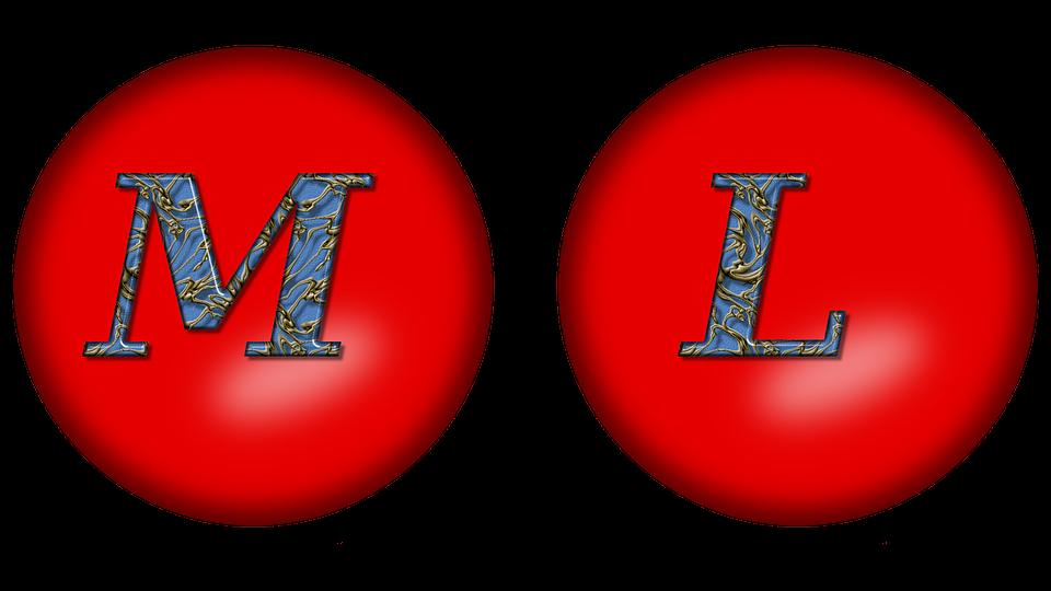 Alphabet Large Letter M L
