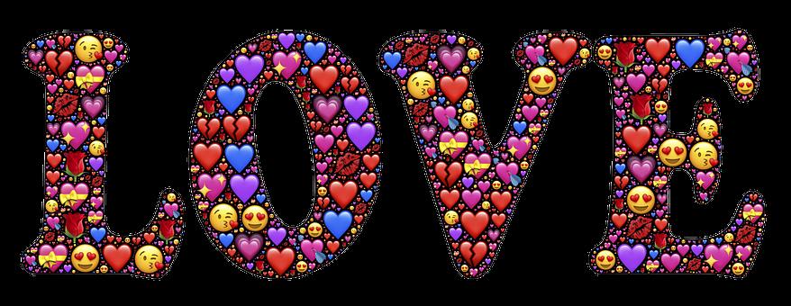 Love, Emoji, Hearts, Valentine