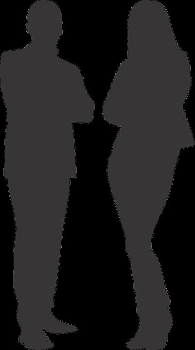 Silueta Hombre Mujer Luz Gráficos Vectoriales Gratis En Pixabay