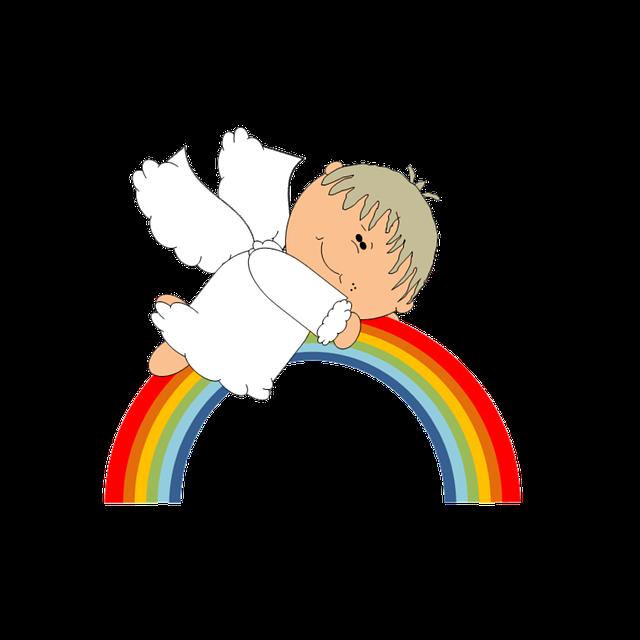 Angel Rainbow Cute 183 Free Image On Pixabay