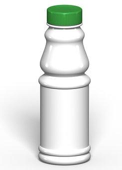 Packing, Plastic, White, Green, Bottle
