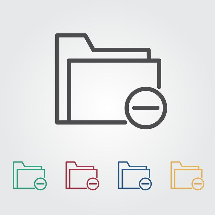 Remove, Folder, Icon, Set, Symbol, Sign, Document