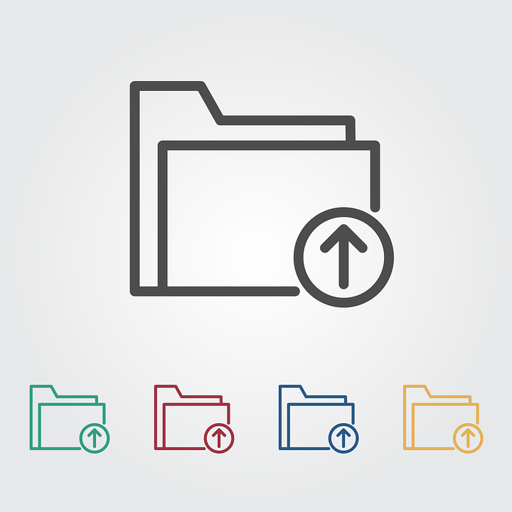 Hochladen Ordner Icon Kostenlose Vektorgrafik Auf Pixabay