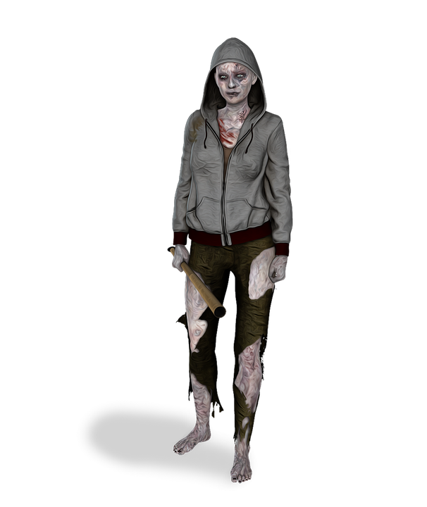 free illustration zombie female woman young free