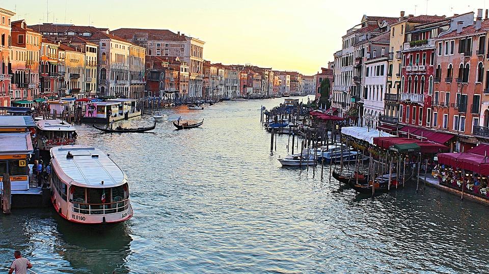 Венеция, Италия, Воды, Архитектуры, Здание, Канал
