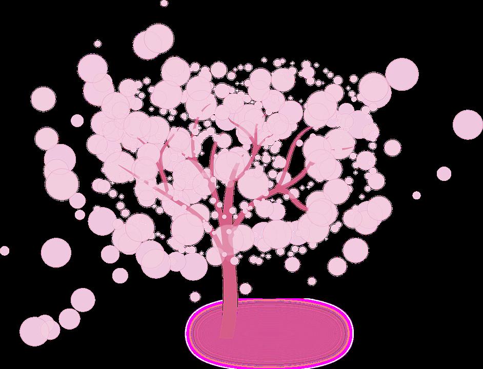 木, ピンク, ファンタジー, 花, 分岐, ピンクの花, 自然, 桜の木, ハーモニー, スプリング