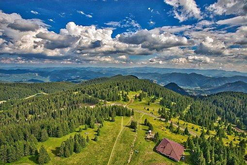Scenic Mountain Landscape Blue Nature Sky