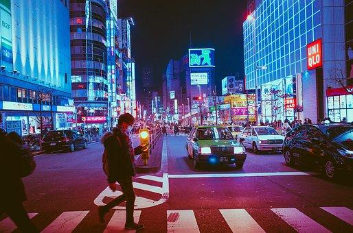 日本, 大阪, 泊, アジア, ランドマーク, 旅行, アーキテクチャ, 文化