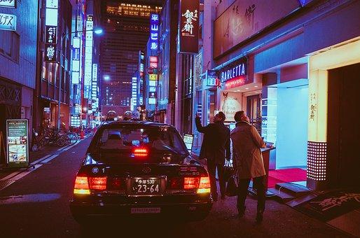Japan, Osaka, Night, Asia, Landmark