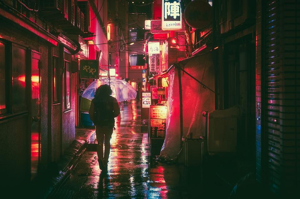 Japón, Osaka, Noche, Asia, Hito, De Viaje, Japonés