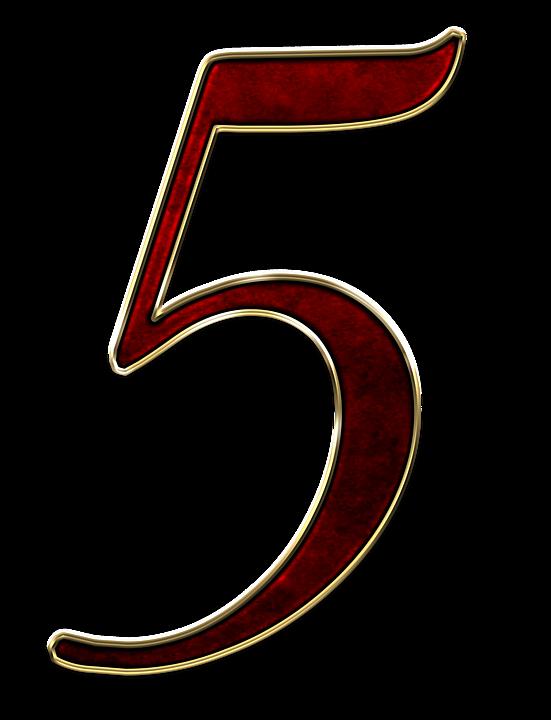 número 5 cinco imagen gratis en pixabay