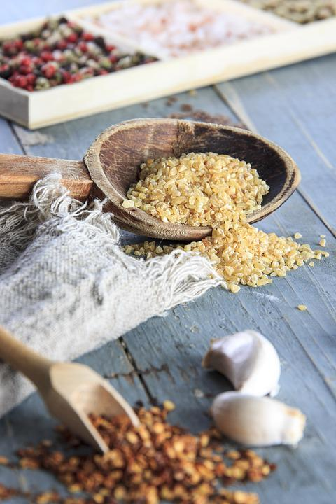 Free photo Rice Kitchen Blue Wooden Spoon Free Image on