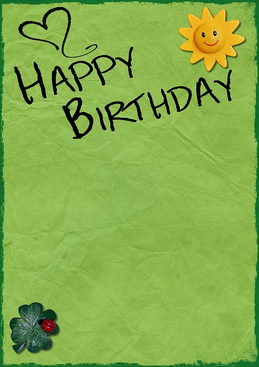 Free photo Birthday Background Birthday Card Free Image on – Green Birthday Card