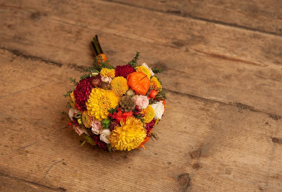 Blumen Hochzeit Strauss Kostenloses Foto Auf Pixabay