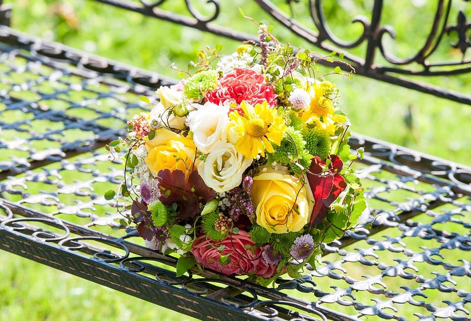 Hochzeit Blumen Brautstrauss Kostenloses Foto Auf Pixabay