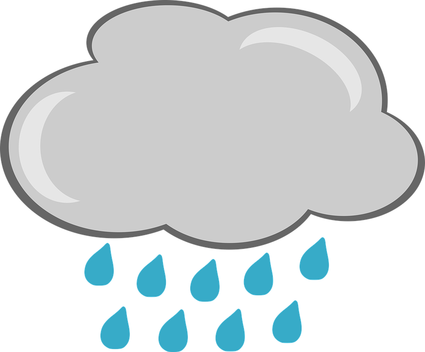 Regen, Wolke, Wetter, Grafiken, Abbildung, Wolkendecke