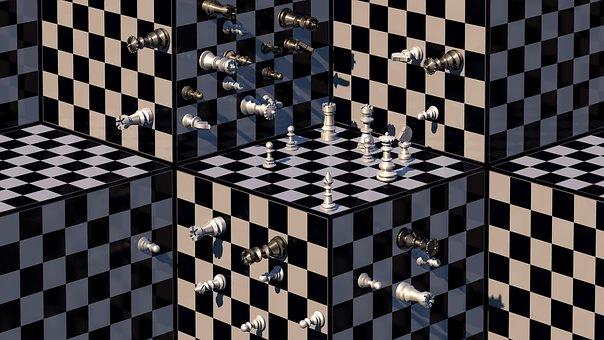 Schach, Schachwürfel, Schachbretter
