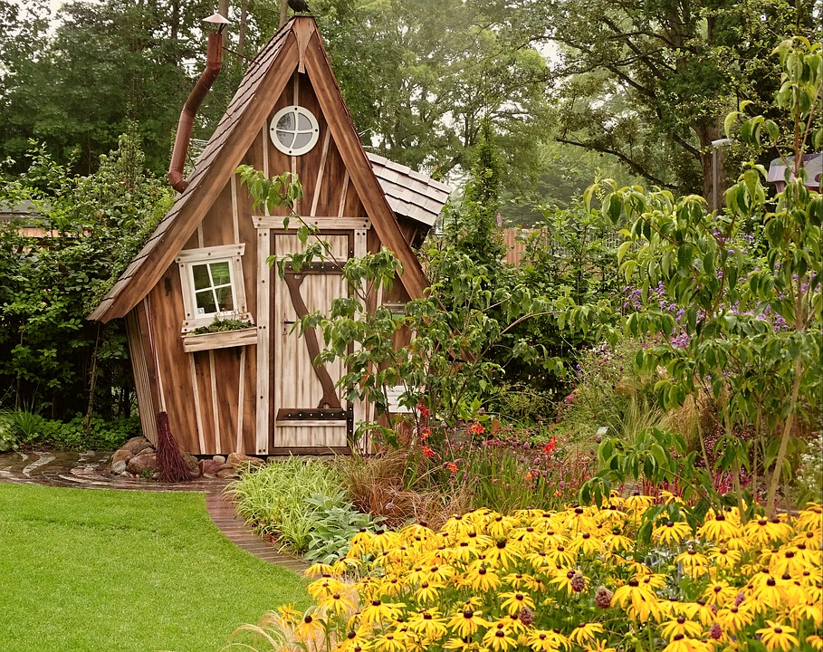 Garden Shed, Garden, Allotment, Home, Romantic