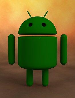 人造人間, アンドロイドロゴ, ロボット, 3 D 図