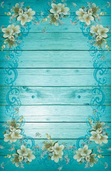 무료 일러스트: 터키석, 푸른, 프레임, 꽃, 배경, 프리슈, 여름 ...