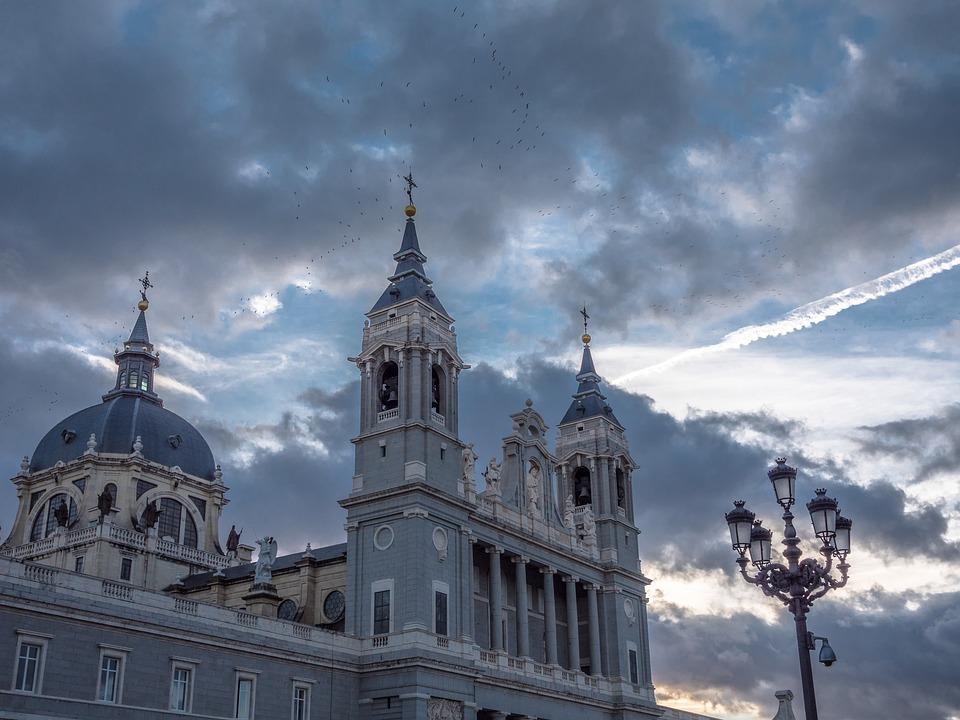 鸟, 天空, 日落, 云, 基督, 快乐, 城市, 教堂, 体系结构, 外观, 寺