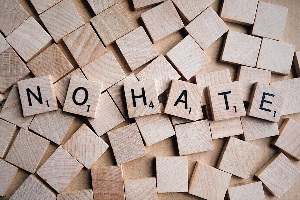 No Hate, Word, Letters, Scrabble