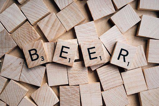 Beer, Word, Letters, Scrabble, Wooden